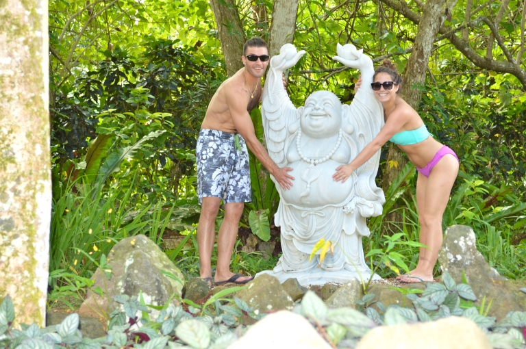 There is a buddha right outside the spa. We spent a lot of time in the heavenly hydrotherapy pools, and decided we wanted to rub Buddha's belly for luck! :)