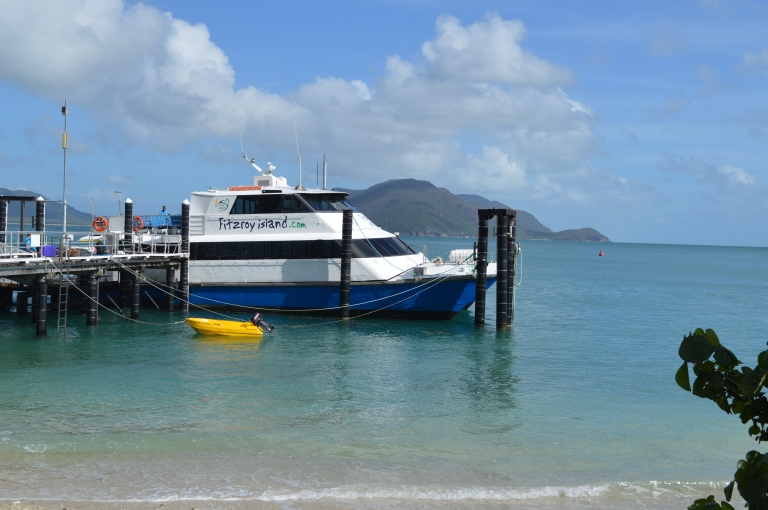 Upon arriving to beautiful Fitzroy Island. This is the Fast Cat we rode to the island.