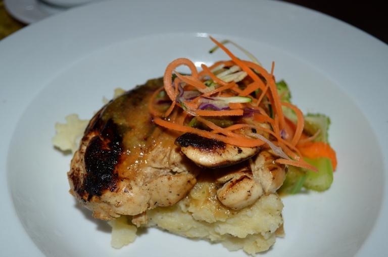 My dinner: Strawberry Daiquiri Chicken & Mashed Potatoes