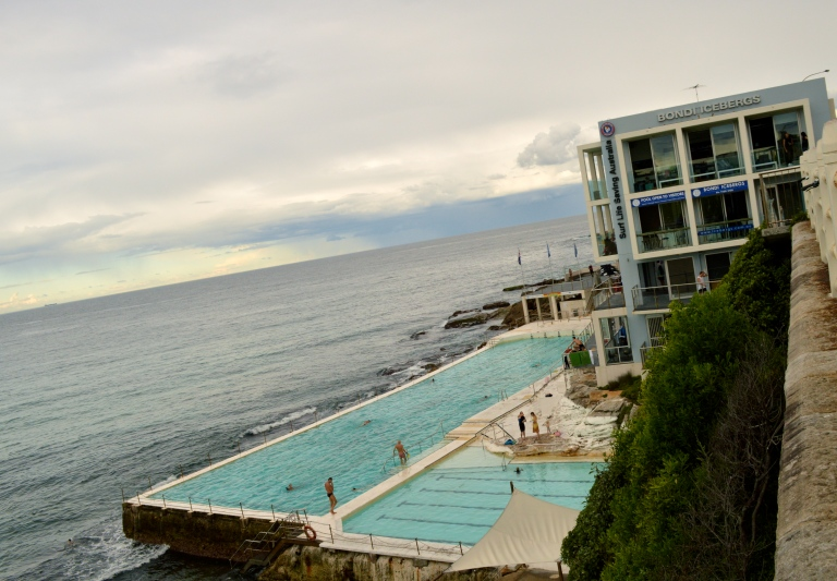 Famous Bondi Icebergs at low tide. i was wishing it was high tide to see the waves crash into the pool!