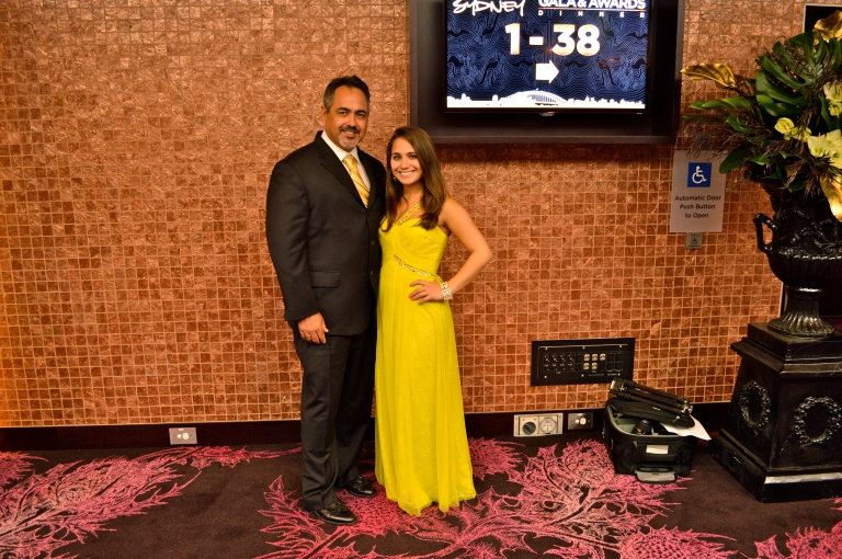 We clean up well! :) Love how I got to bring my daddy to the Gartner Gala.