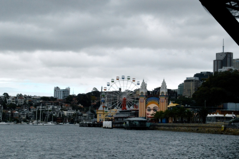 Our wonderful view of Luna Park, the Australian version of the Santa Monica Pier in Cali, on the Ferry Ride over.