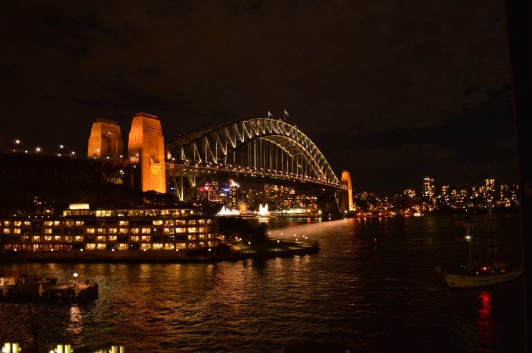 Gorgeous view of the Sydney Harbour View from the Top Deck at Quay!