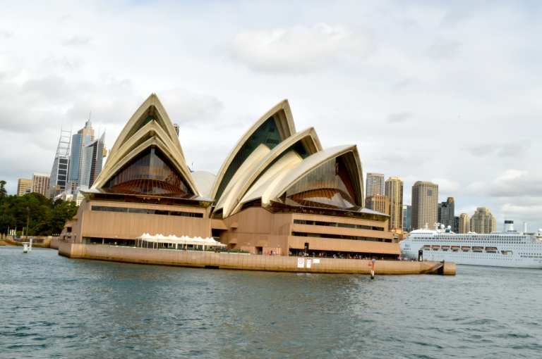 The front of the Opera House! This was the first time I went that direction, and got to see this new view!