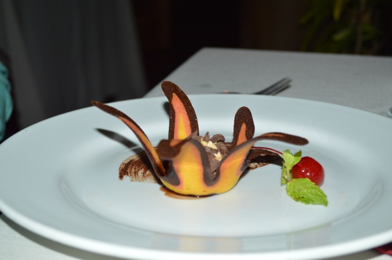 Now dessert was heavenly--this is the chocolate mousse.