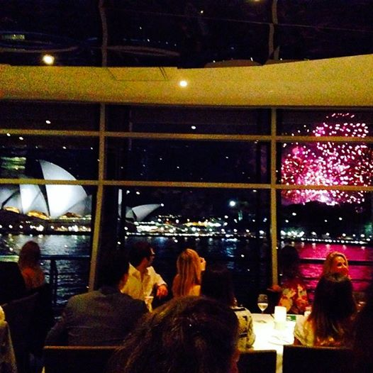 Perfect way to end dinner! Fireworks over the Opera House in crystal clear view.