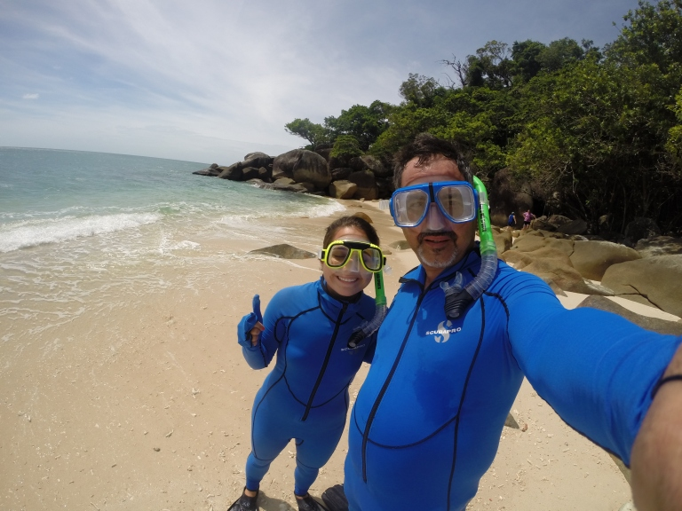 We also had the chance to snorkel a coastal reef in the Great Barrier Reef. What are we wearing you ask? Stinger suits! We are in jelly fish season, and 2 species out there can kill us in 2 minutes. Adventurous? i know.