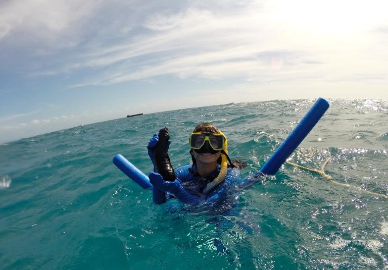 Found a Sea Cucumber...SCORE!