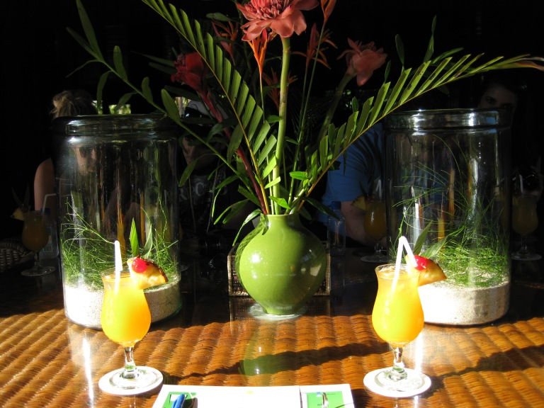 Our amazing drinks ready and waiting for us! They were delicious!