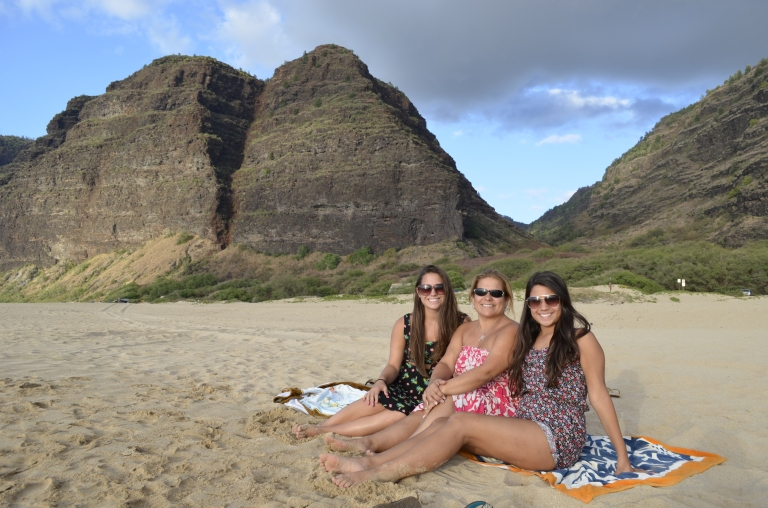Kauai -- NaPali Coast Secret Beach. We felt like we went back to the archaic, cave man times.