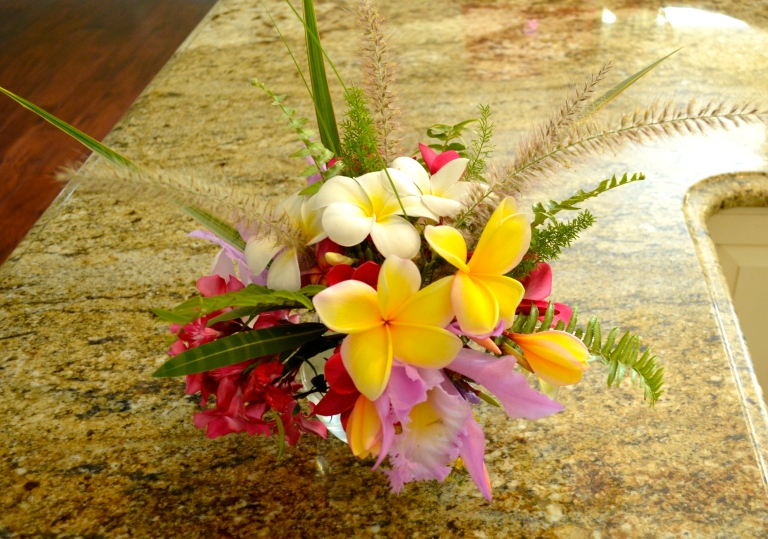 Plumerias, Orchids, Morning Glories, & Cat Tails....all homegrown, organic and beautiful!