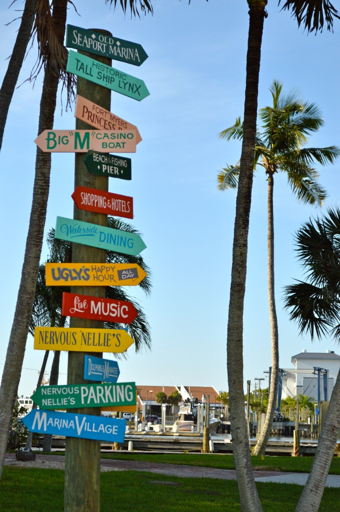 I love these tropical signs. You know you are at the beach when you see one of these! This one is located right outside Nervous Nellies.