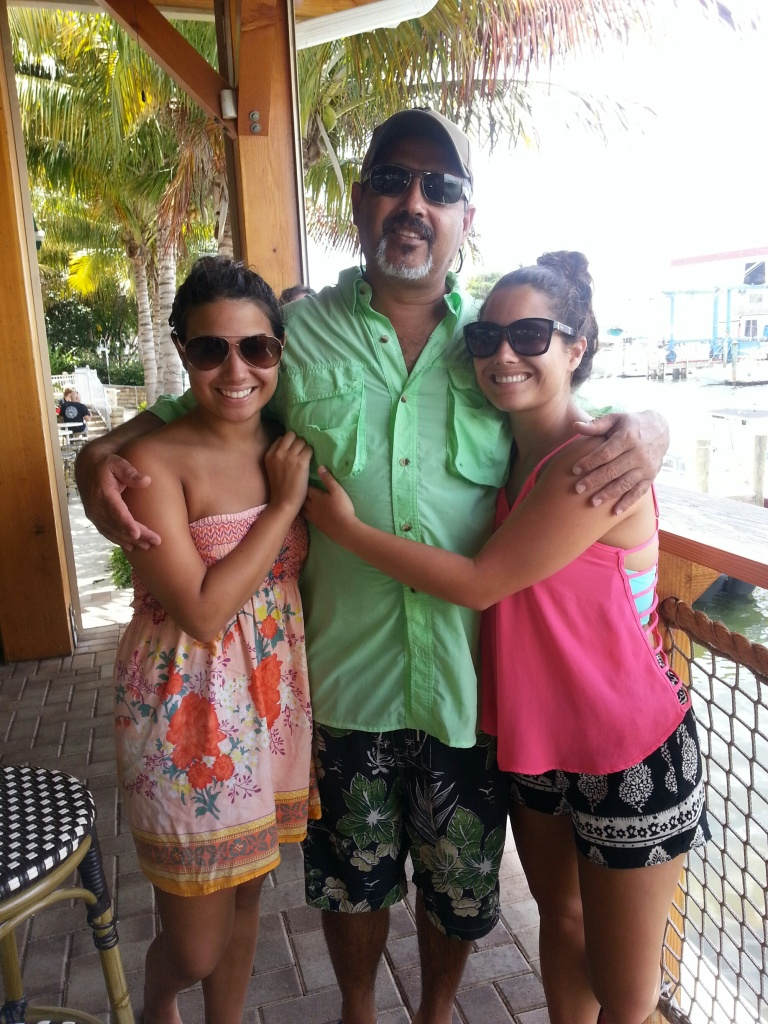 Dad enjoying Father's Day with his 2 girls!