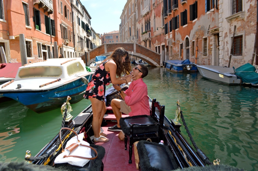 Venice, Italy: Surprise Engagement!