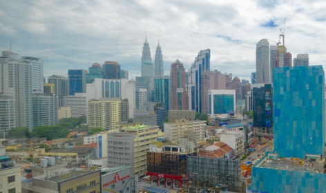 View from our hotel room of Kuala Lumpur